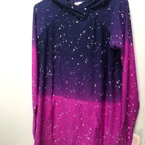 Small galaxy Lularoe amber hoodie